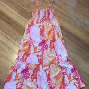 Vintage print girls dress